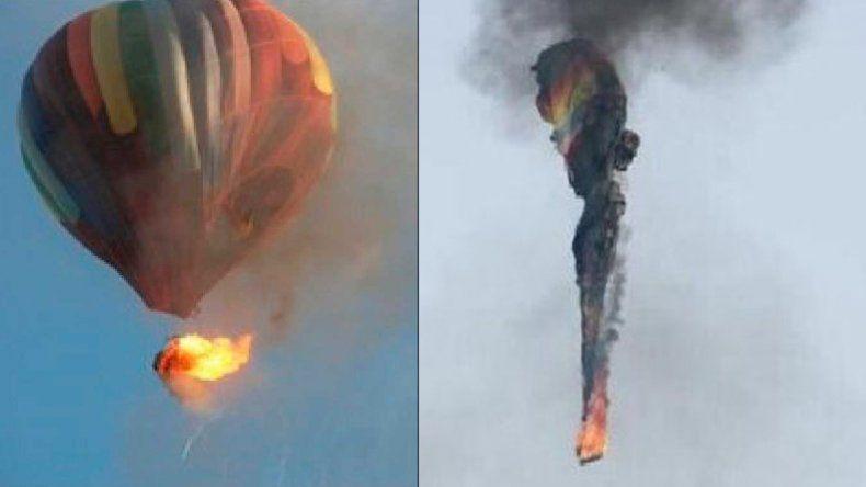Se incendió un globo aerostático y murieron 16 personas
