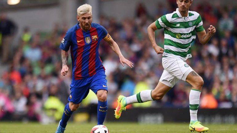 Messi jugó un tiempo en la victoria del Barcelona sobre Celtic