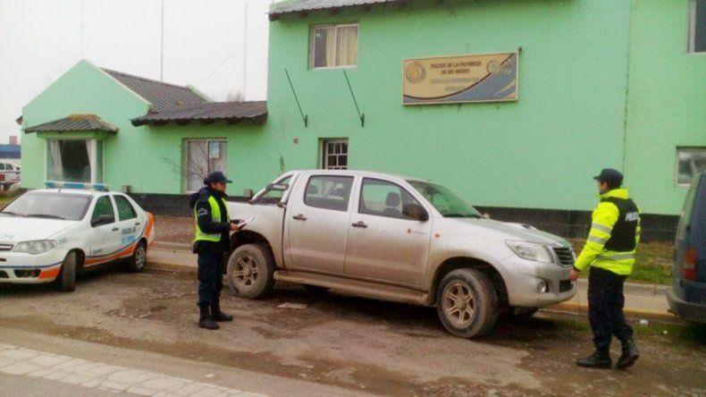 La Toyota Hilux fue secuestrada por la Policía Caminera cipoleña.