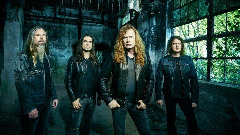 La banda encabezada por Mustaine desembarca esta semana en la región.