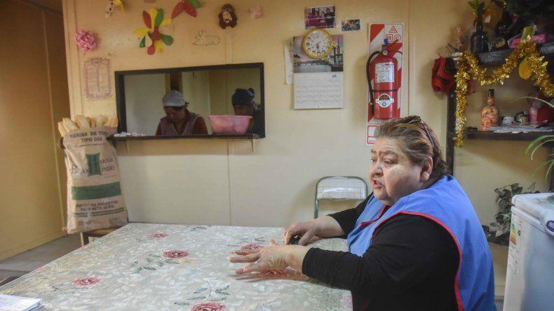 Elena Zorrila es una de las seis cocineras del centro de alimentos para la tercera edad de San Lorenzo Norte.