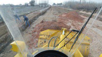 el municipio afirma que la calle lanin estara lista en abril