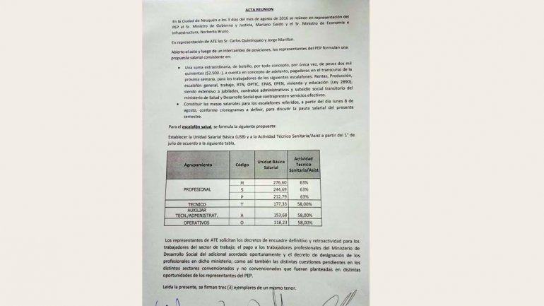 ATE aceptó la propuesta de Gobierno