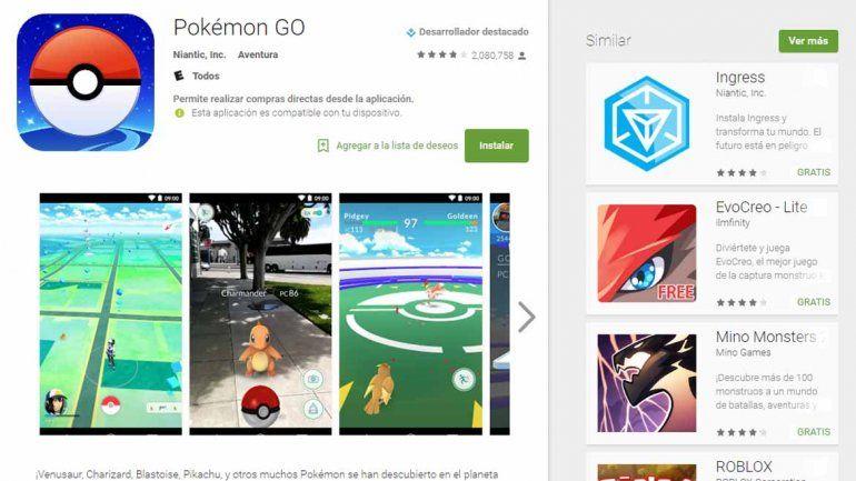 Se terminó la espera: Pokémon Go llegó finalmente a la Argentina