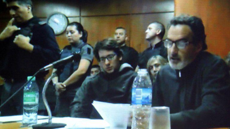 El acusado en una audiencia.