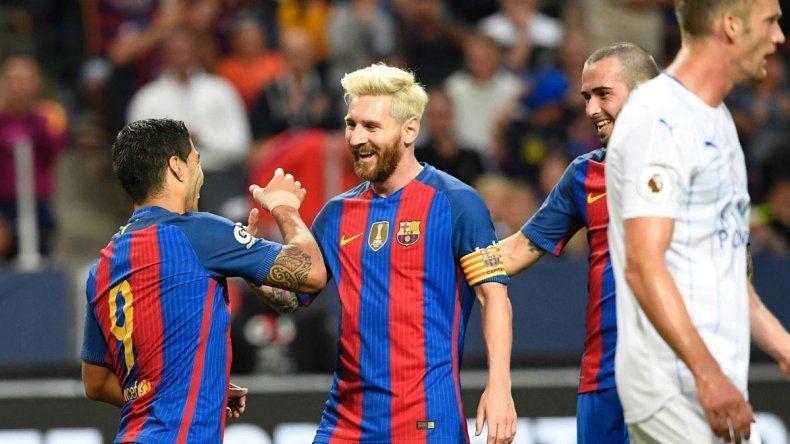 Messi dio una genial asistencia. Cristiano la pasa bomba con su novia.