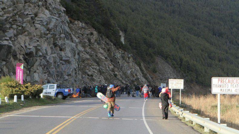 Ruta 40: se levantó el piquete que impedía el acceso al cerro Chapelco