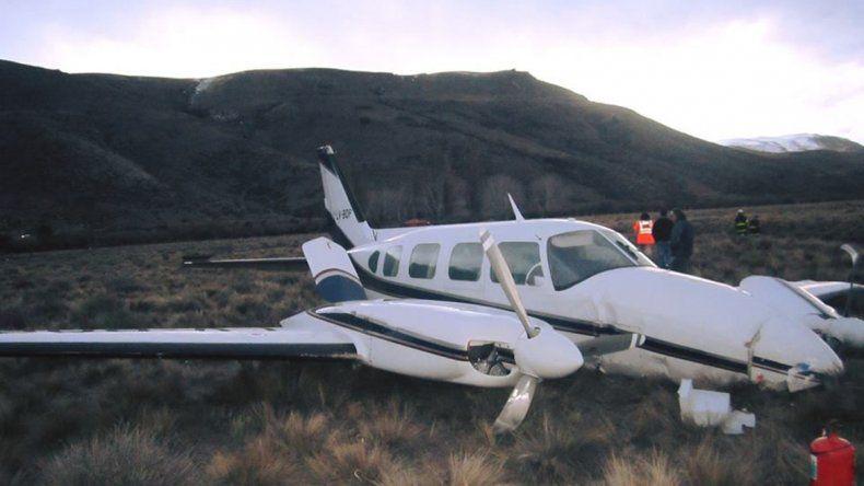 Seis heridos tras un aterrizaje de emergencia de una avioneta que salió de Neuquén
