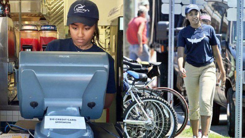 Transición: la hija menor de Obama trabaja como cajera en un restaurante