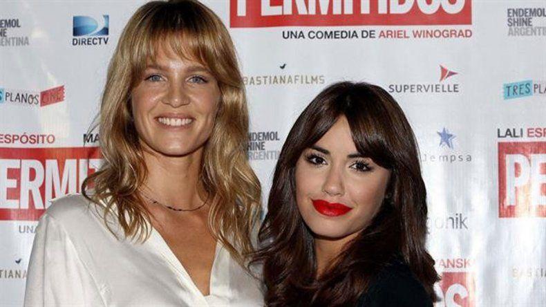 Liz Solari junto a la cantante y actriz Lali Espósito. Trabajaron juntas con Martín Piroyansky en la película Permitidos