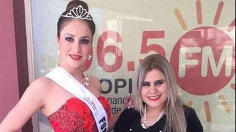 La bella formoseña competirá esta noche en el City Center de Rosario.