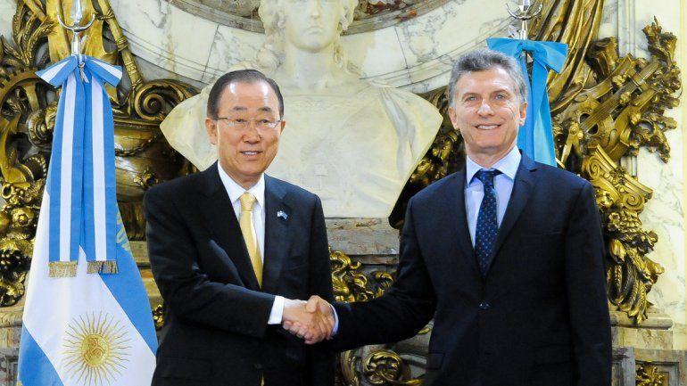 Ban Ki-moon elogió la solidaridad de la Argentina en DD.HH.