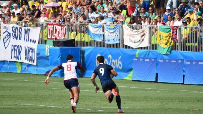 Rugby 7: Argentina le ganó a EE.UU. en la última jugada