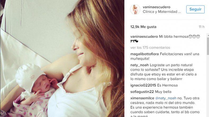 Vanina Escudero presentó feliz a su hija en las redes sociales