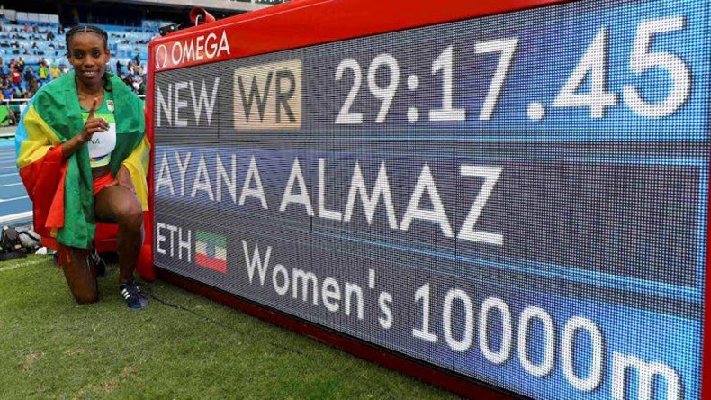 Increíble récord de la atleta etíope Almaz Ayana