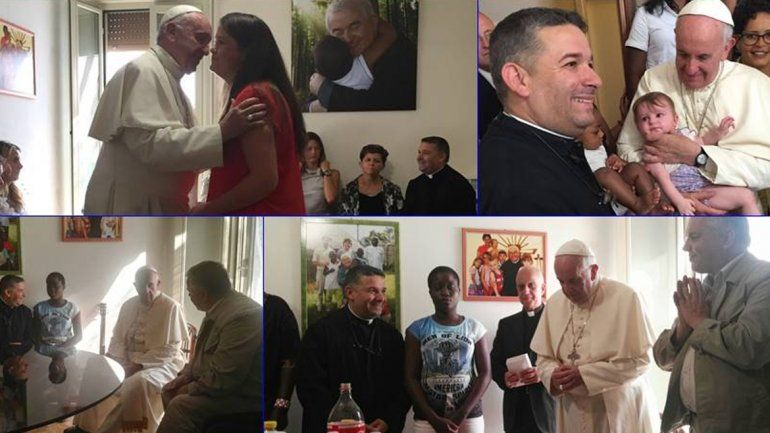 Francisco visitó a mujeres sobrevivientes de trata sexual