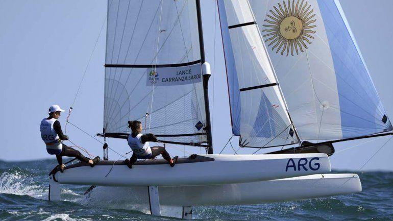 En vela, Lange y Carranza están primeros y sueñan con una medalla