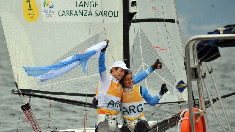 El binomio argentino Lange y Carranza se llevó la medalla dorada en vela