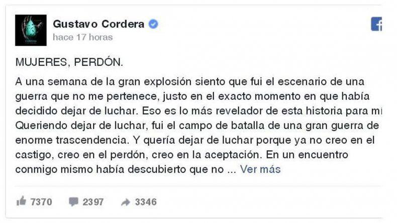 Cordera fue denunciado penalmente por diferentes personas y organismos a raíz de sus dichos.