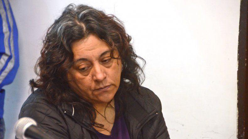 Mirta Rodríguez durante la audiencia