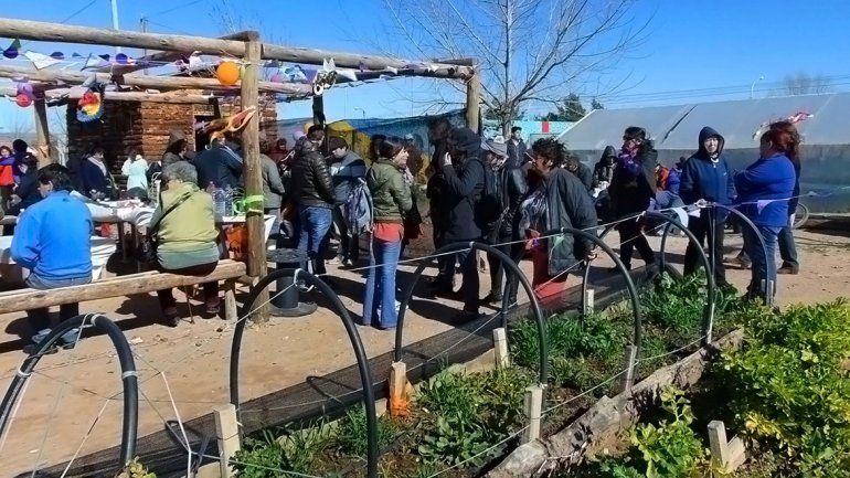 El festejo contó con la presencia de los huerteros y sus familias.