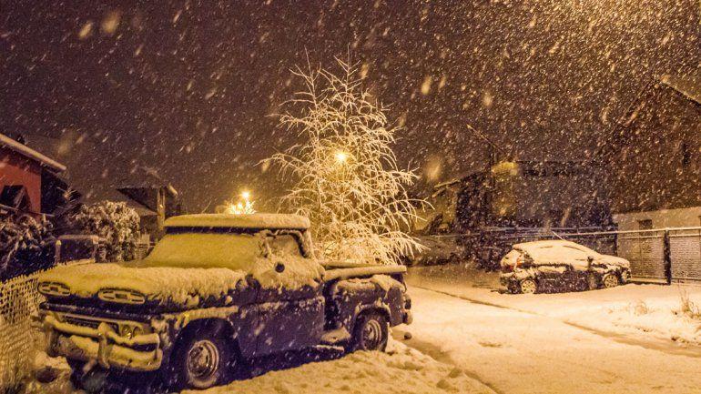 Una intensa nevada obligó a suspender las clases en San Martín