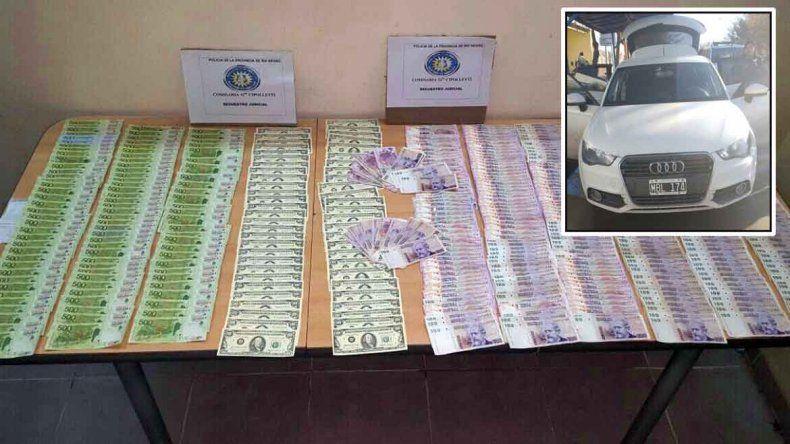 Detienen a dos hombres con más de 210.000 pesos falsos: casi 100 mil eran billetes de 500