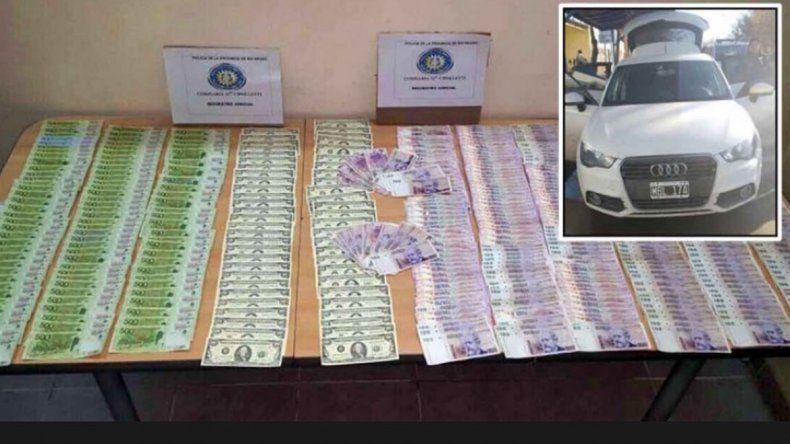Billetes de 100 y 500 pesos falsos