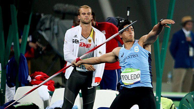 El argentino Braian Toledo obtuvo un meritorio décimo puesto en la final de lanzamiento de jabalina de los Juegos Olímpicos de Río de Janeiro 2016.