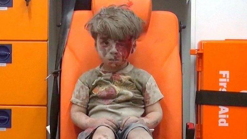 El niño de la foto es Omran