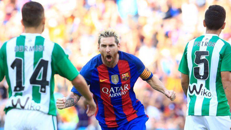 Lio se lució con un doblete y una asistencia para el Barça.