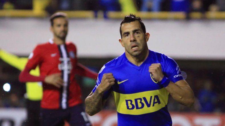 Lucas Alario y Carlos Tevez