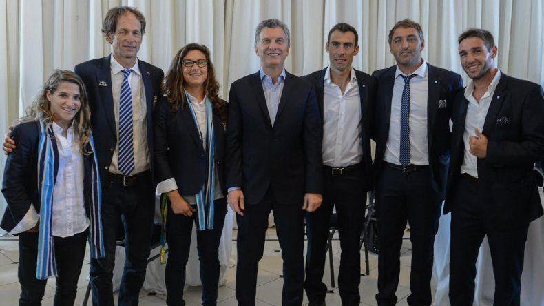 Macri se encontró con los representantes olímpicos de Río