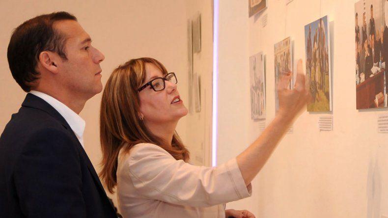 Gutiérrez y la subsecretaria Comelli.