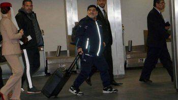 Diego pudo viajar a Dubai