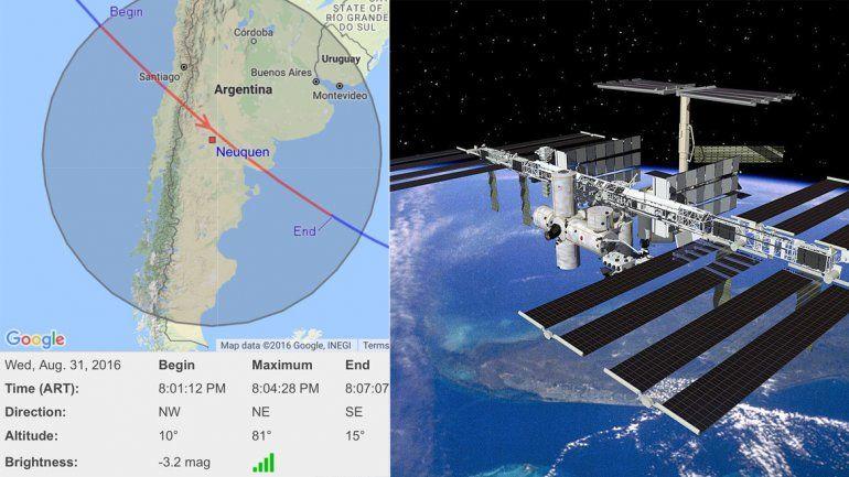 La Estación Espacial Internacional pasará hoy por Neuquén