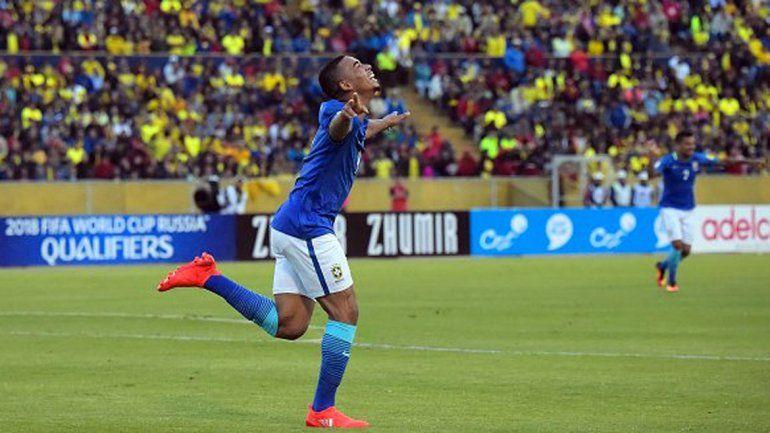 Brasil le ganó 3 a 0 a Ecuador con uno de Neymar y dos de Jesús