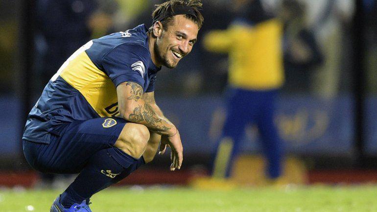 Osvaldo jugó 20 partidos y metió 7 goles en sus dos pasos por Boca.