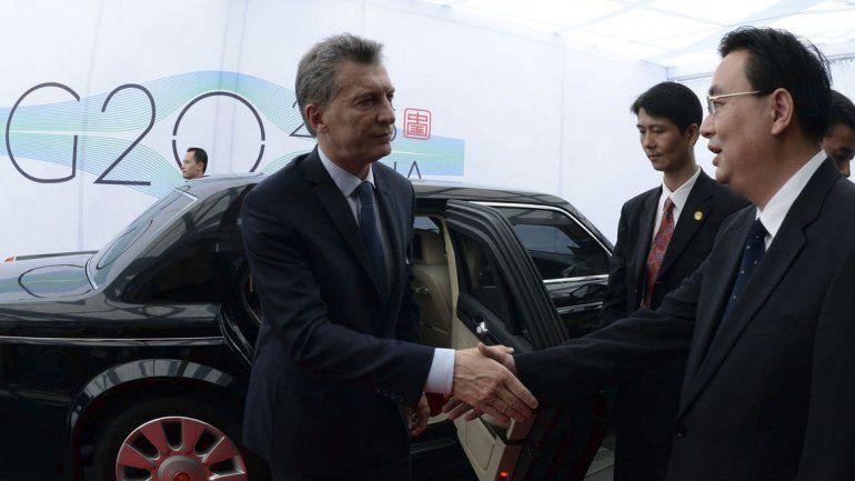 Macri arribó a China donde participará del G20
