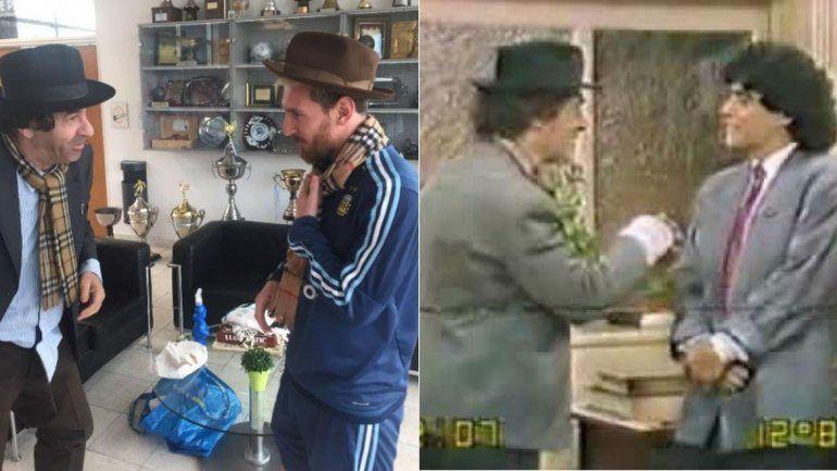 Minguito y Lionel Messi.