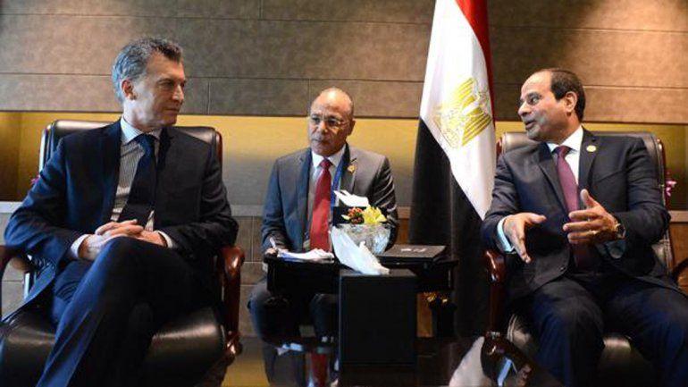 Macri se reunió con el presidente de Egipto