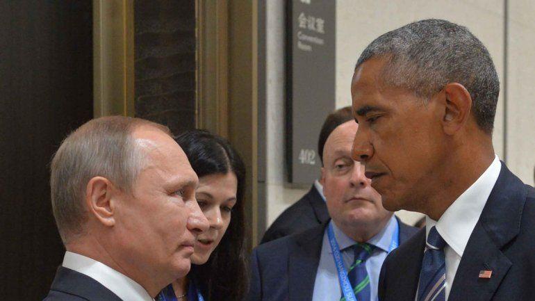 La frialdad del saludo entre Vladimir Putin y Barack Obama en el G20.