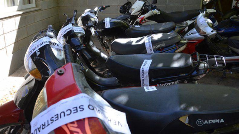 El fin de semana Tránsito secuestró motos en la ciudad.