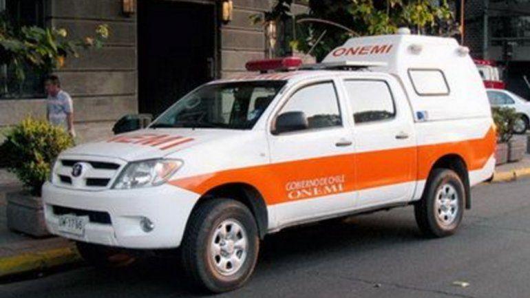 La camioneta del Onemi estaba fuera de una casa en Villa Ceferino.