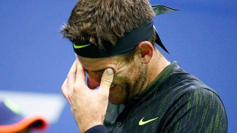 Los Gigantes también lloran. Del Potro sintió el cariño de la gente.