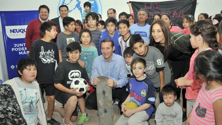 Gutiérrez inauguró el salón de usos múltiples del barrio Islas Malvinas