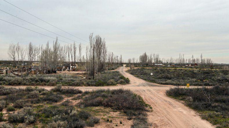 El sector Guzmán está en una picada de la meseta