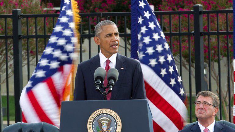Su discurso fue en el Pentágono