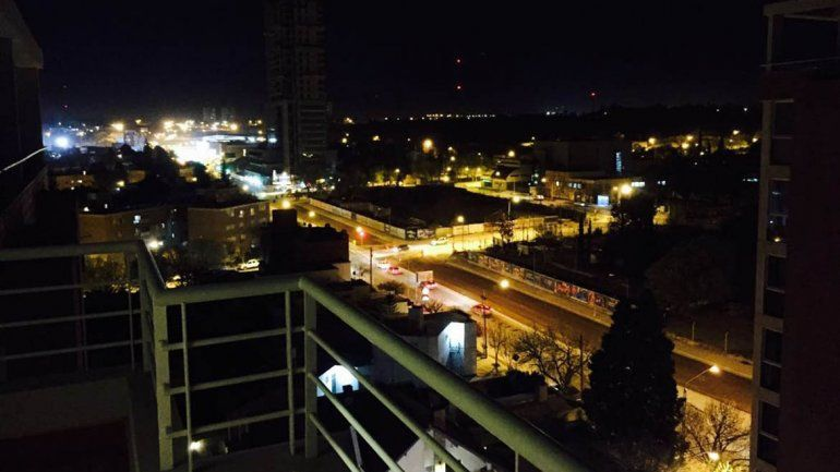 María José y una vista aérea de la ciudad.