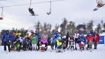 Atletas con discapacidad compitieron en Chapelco